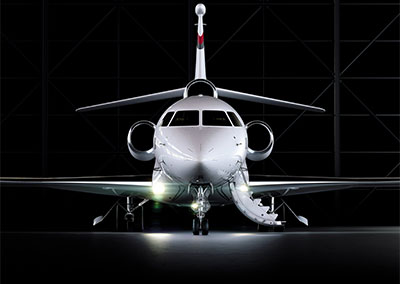 The Dassault Falcon 8X will be able to carry eight passengers and three crew 6,450 nauticl miles at Mach .80. Photo copyright © Dassault Aviation, used with permission.