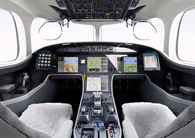 The Falcon 8X will feature the third generation of EASy cockpit. Photo copyright © Dassault Aviation, used with permission.