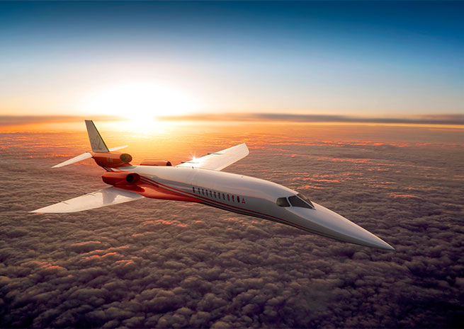 Aerion's supersonic business jet concept. Image courtesy of Aerion Corp.