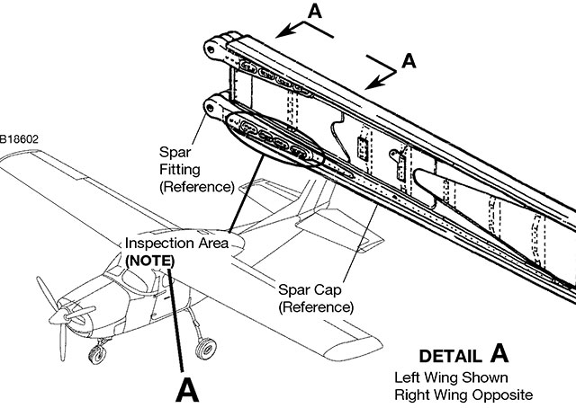 Illustrations from Cessna Service Letter SEL-57-01 Rev. 1 combined for clarity and presentation.