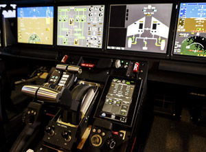The G500 and G600 cockpits feature Honeywell's new Symmetry Flight Deck. Photo by Stephanie Lipscomb.