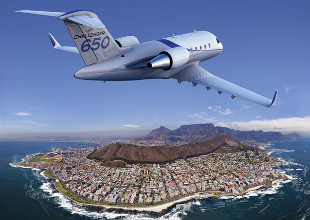 Challenger 650 announced at NBAA 2014. Image courtesy of Bombardier.