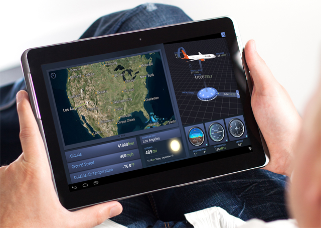 Rockwell Collins has created Android versions of its Airshow 3D moving map and Venue CabinRemote apps for business passengers.