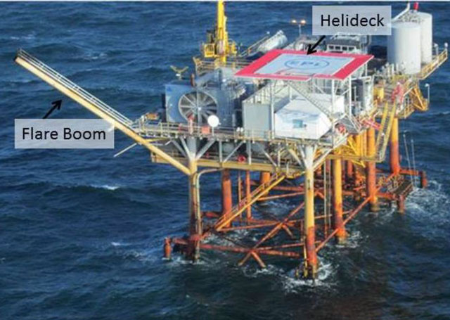 NTSB photo of oil platform where a Bell 407 lost power in 2013.