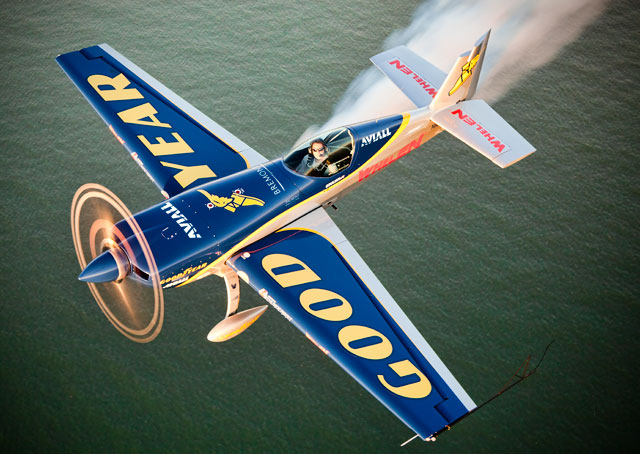 Michael Goulian, a winner of the U.S. Unlimited Aerobatic Championship and a Red Bull Air Race Championship pilot, will deliver an aerobatic demonstration in Frederick.