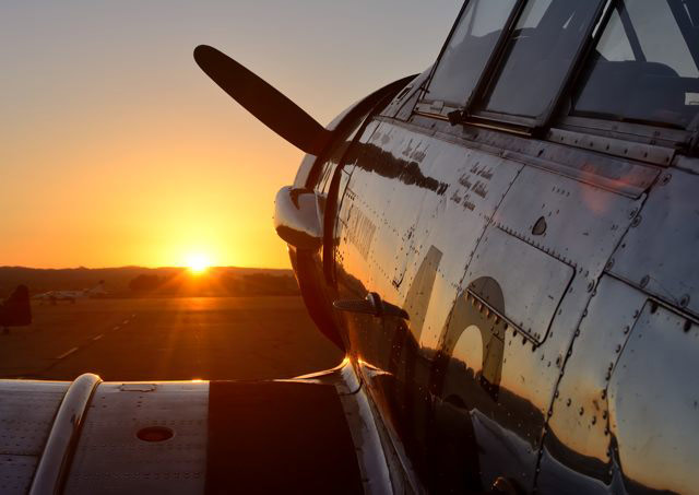 The sun sets on a successful Chino Fly-In.