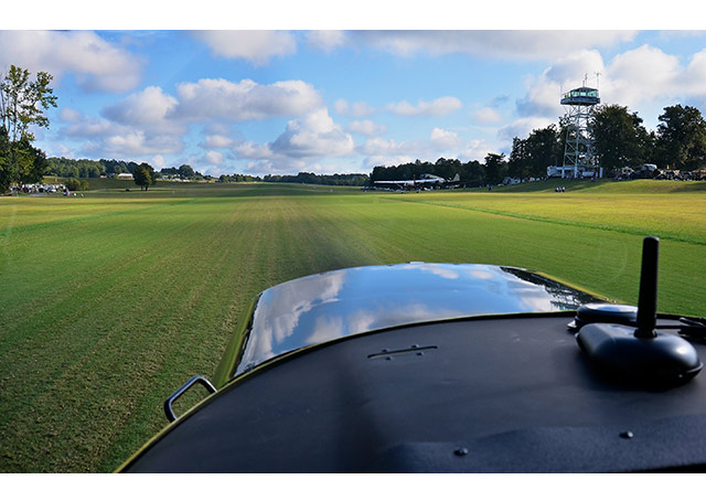 "Triple Tree Aerodrome features a manicured grass strip that Opinion Leaders blogger Amy Laboda has dubbed a ""7,000 foot long putting green."""