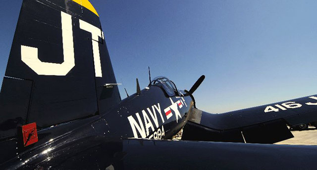 Vought F4U Corsair. Photo by Mike Collins.