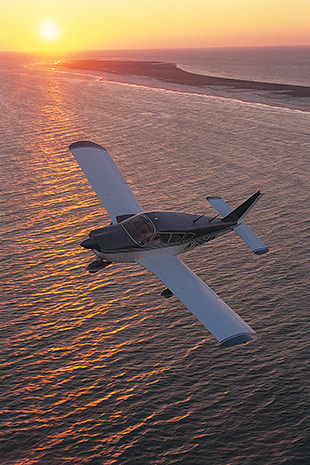Enjoying a sunset flight. George A. Kounis.