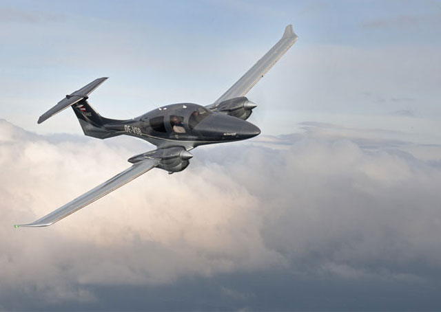 Diamond's DA62 has been certified in Europe. Photo courtesy of Diamond Aircraft.