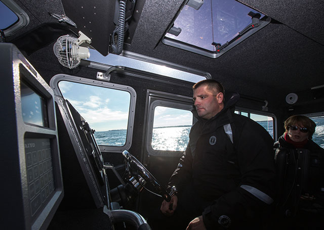 Harbormaster Michael DiMeo works closely with Shoreline Aviation staff, and can respond quickly to nautical emergencies.
