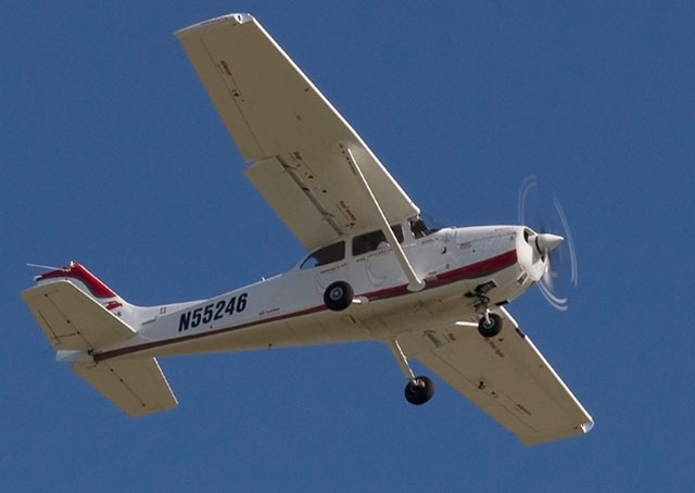 Sherry Rosenkranz flies a go-around over Plant City Municipal Airport April 22.