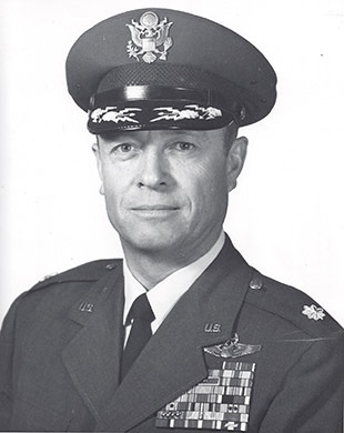 Lt. Col. Peter Weber Jr., USAF, in October 1968, two years before retirement. Photo courtesy of Darlene Weber.