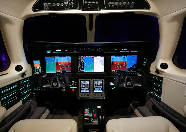 The M600 also includes avionics upgrades, such as the Garmin G3000 cockpit, the first use of the touchscreen system in a single-engine turboprop.