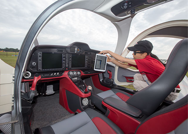 The cockpit of the M10J was designed with comfort and ergonomics in mind.