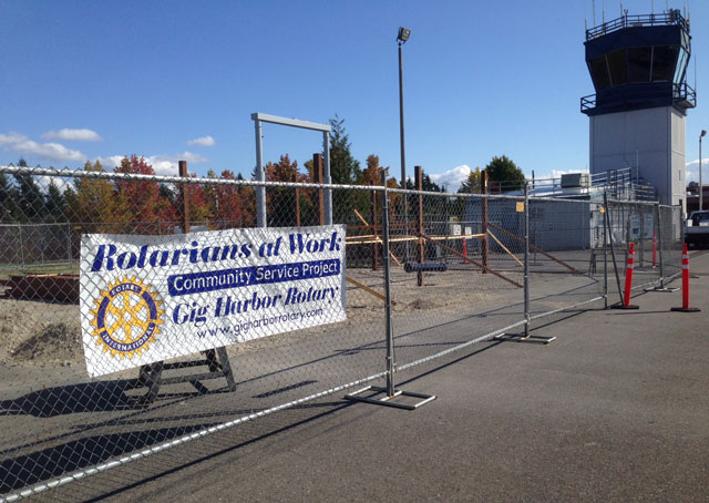 Volunteers are constructing an observation area at Tacoma Narrows Airport that will allow the public to come and watch aircraft takeoff and land.