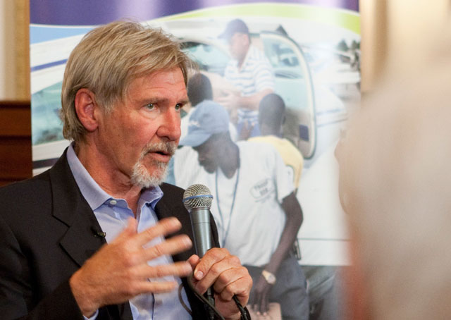 Harrison Ford is a longtime aviation advocate. AOPA file photo.