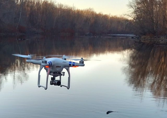 A DJI Phantom 3, one of the most popular UAS on the consumer market, is among perhaps a million drones that will be subject to the new registration requirement. Jim Moore photo.