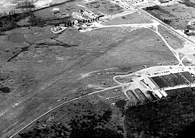 The Congressional Flying Club began life on this central Maryland field, long since converted to a shopping center. Photo courtesy of the Congressional Flying Club.