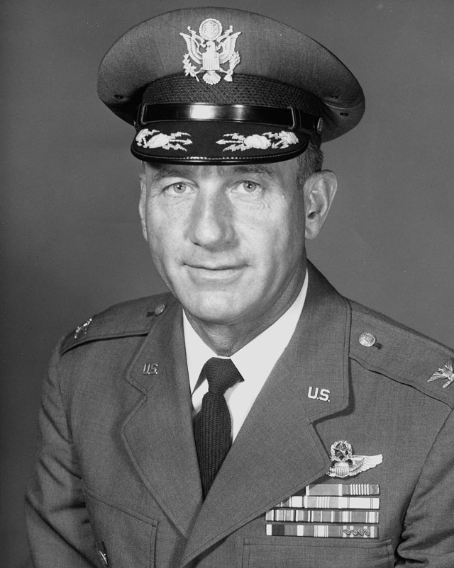 NORAD photo of the late Col. Harry Shoup, who took a call in 1955 that started a tradition.