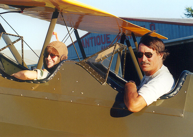 Brent Taylor enjoying time in a Stearman. Photo by Ben Taylor.