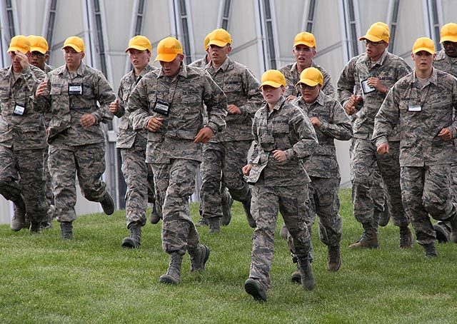 AOPA scholarship winner Anna Weilbacher participates in cadet basic training at the U.S. Air Force Academy. Photo courtesy of Anna Weilbacher.