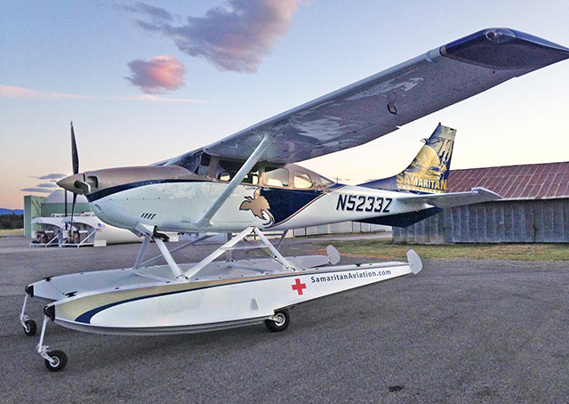 Samaritan Aviation's Cessna 206 on floats will soon be in service in Papua New Guinea. Photo courtesy of Samaritan Aviation.