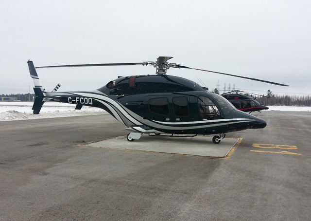 Bell delivers the Bell429WLG, a helicopter with wheeled landing gear.