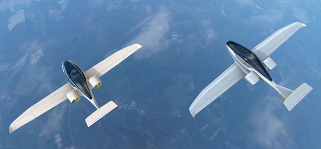 Artist's rendering of E-Fan 2.0 and 4.0. Image courtesy of Airbus Group.