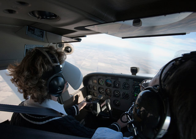 Students learn basic instrument flying skills while they work on their private pilot certificate.