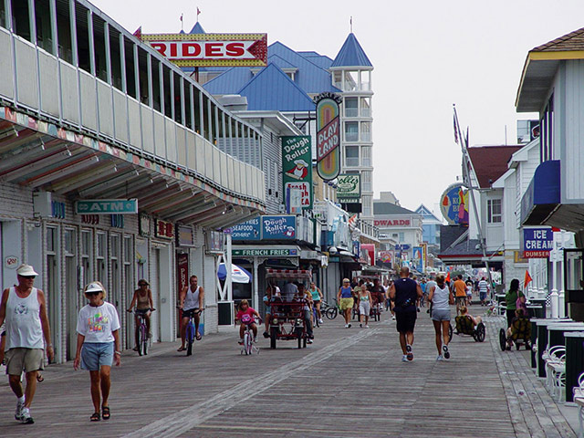 The boardwalk at the Inlet. Photo courtesy of Town of Ocean City Tourism Office.