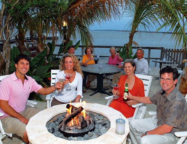 Enjoying some drinks at Fager's Island on the Bay. Photo courtesy of Fager's Island.