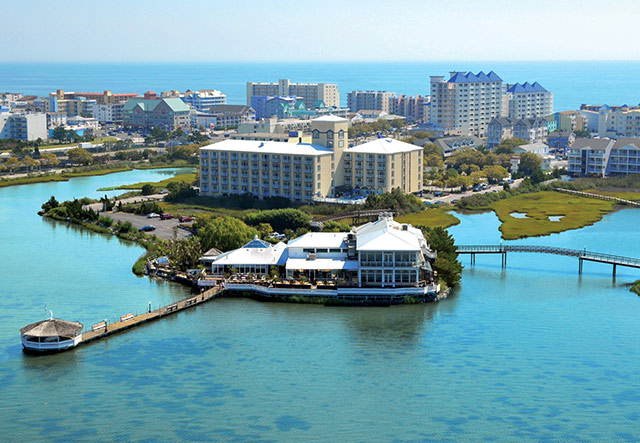 Fager's Island on the Bay offers luxury accommodations, dining, and nightlife. Photo courtesy of Fager's Island.