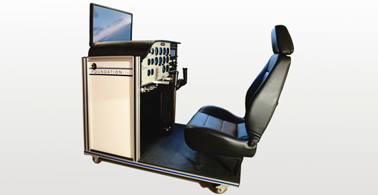Flight schools can get an advanced aviation training device modeled after a Cessna 172 from one-G simulation with no up-front cost. Photo courtesy one-G simulation.