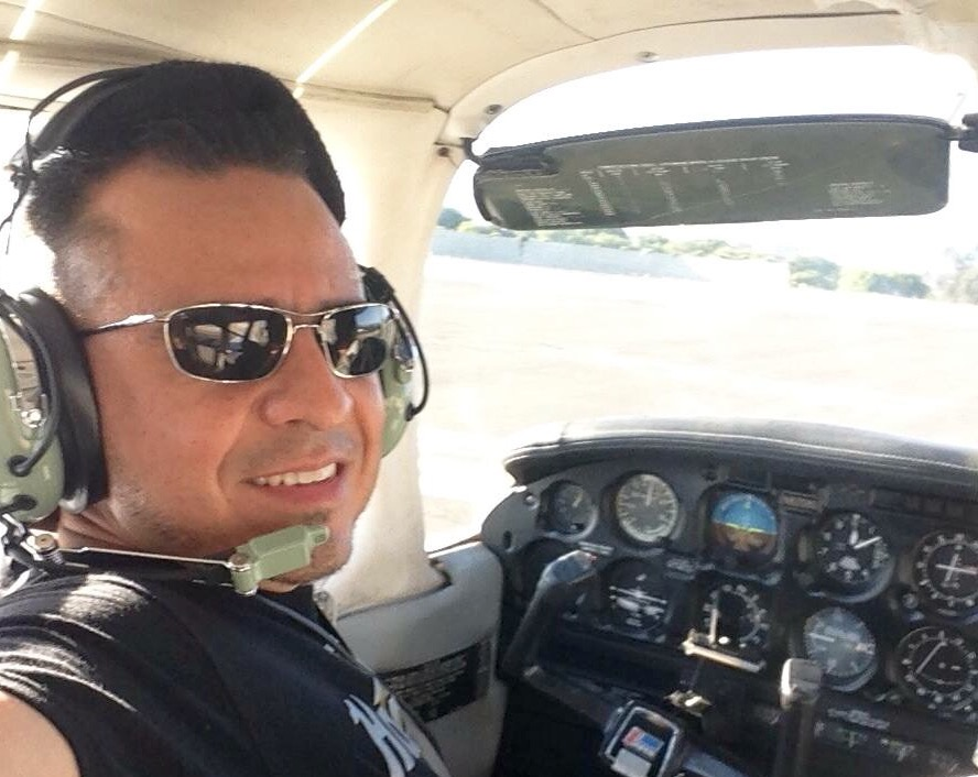 Victor Huerta, a former bullfighter, is now a private pilot who flies out of Santa Monica Airport.