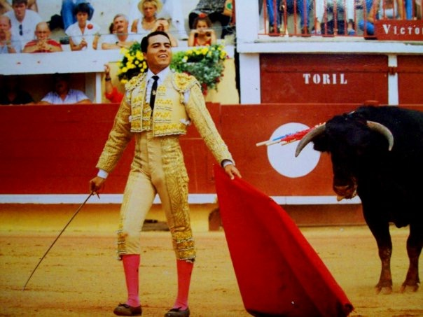 Victor Huerta in the bullfighting ring. He performed in Mexico, France, and Costa Rica.
