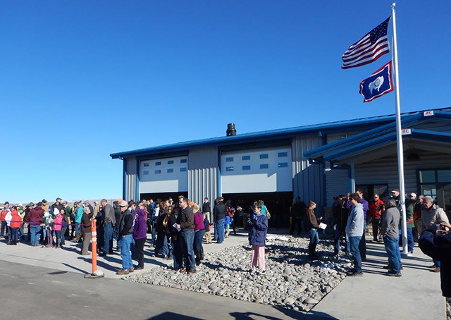 The new Hot Springs County Airport near Thermopolis, Wyoming, opened to the public Nov. 7, ushering in new margins of safety and night operations at the gateway to Yellowstone Country. Photo by Warren Hendrickson.