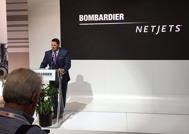 David Coleal, president of Bombardier Business Aircraft