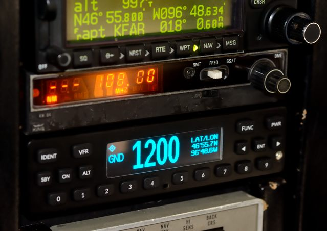 Appareo installed its ESG 1090ES transponder in this 1977 Cessna 172N for certification testing.