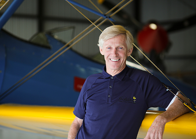 Craig Schulz with his Stearman.
