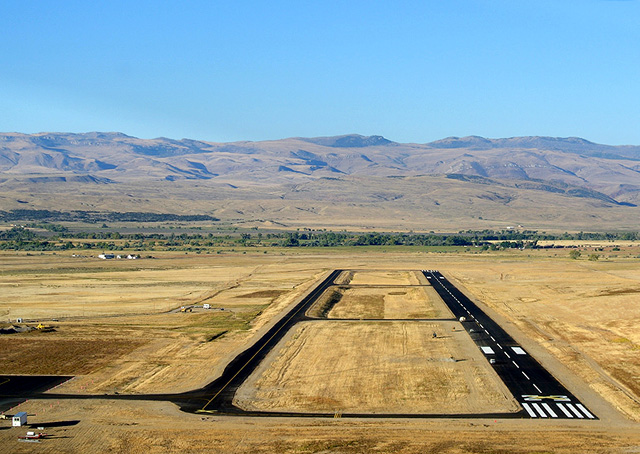 Night operations into northwest Wyoming's gateway to Yellowstone Country will soon be a reality after the new Hot Springs County Airport near Thermopolis, Wyoming, opens to the public on Nov. 7. Courtesy photo.