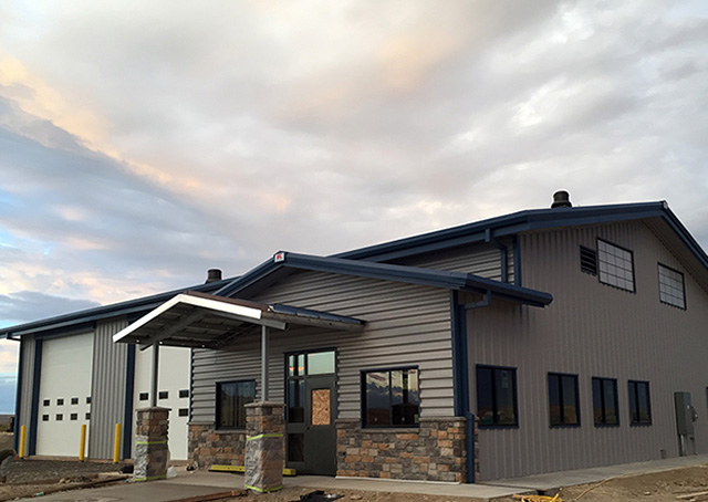 The terminal building at the new Hot Springs County Airport near Thermopolis, Wyoming, opens to the public on Nov. 7. Courtesy photo.