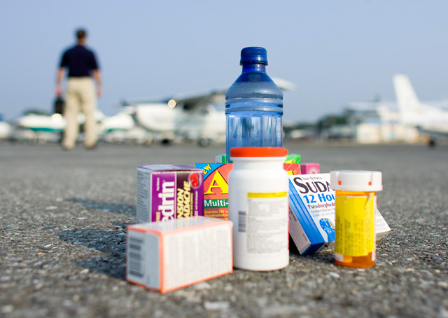 database of medications. find out what you can and cant take while flying a plane
