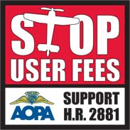Stop User Fees sticker