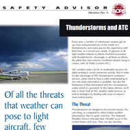 safety advisor for thunderstorms by atc
