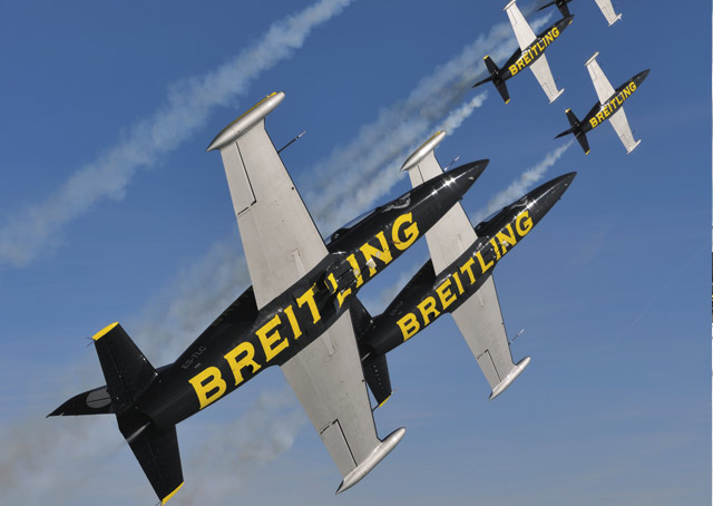 breitling jet team sets 2016 appearances aopa. Black Bedroom Furniture Sets. Home Design Ideas