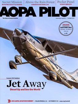 Pilot Magazine Cover October 2012