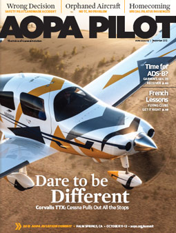 Pilot Magazine Cover September 2012