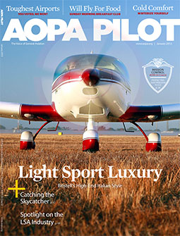 Pilot Magazine Cover January 2013