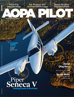 Pilot Magazine Cover March 2013